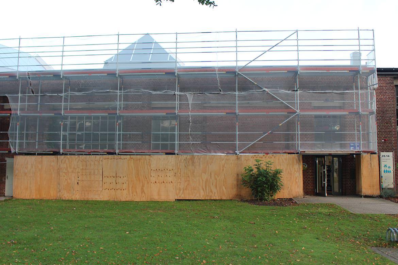 Gerüsbau Bosch rüstet Gebäude im Forschungszentrum Jülich ein