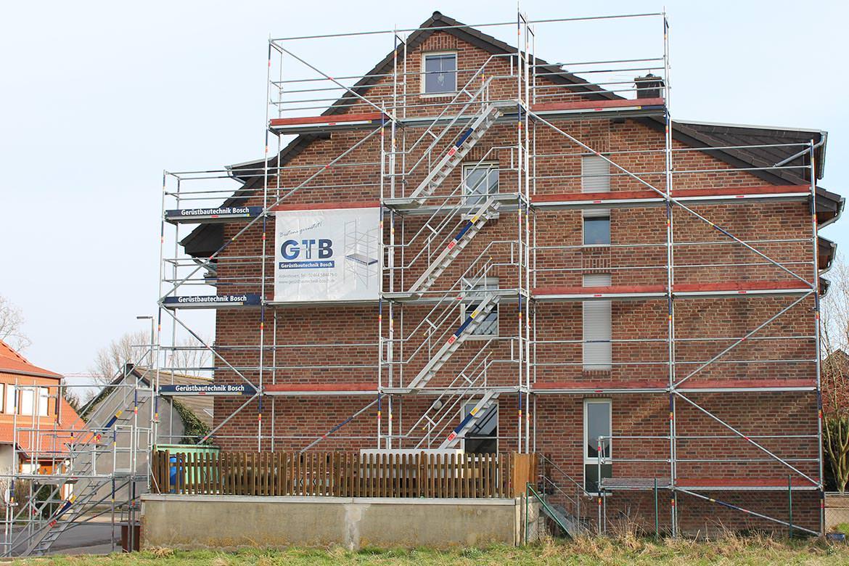 Gerüstbau Einfamilienhaus mit Treppenturm, Aldenhoven
